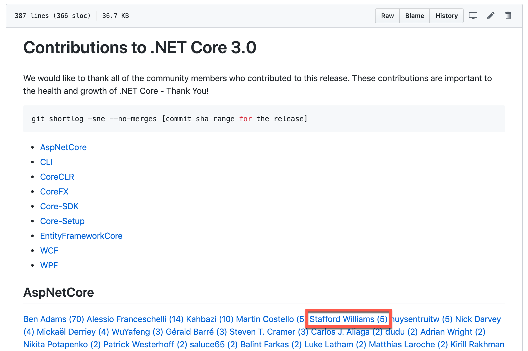 My contributions to .NET Core 3.0